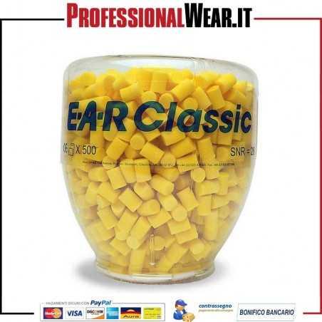 Ricarica Tappi Aearo Classic per distributore EAR ONE TOUCH (Ricarica da 500 paia)