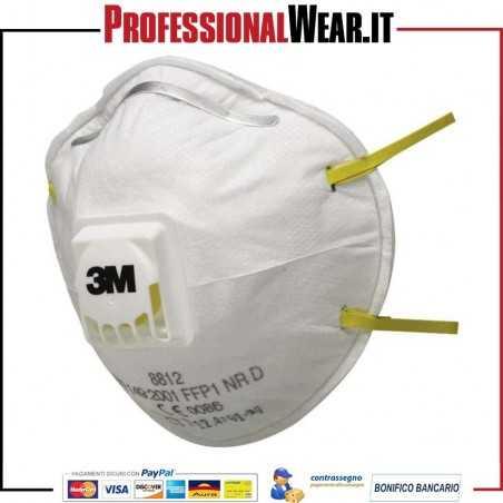 Mascherina 3M 8812 FFP1 con valvola (confezione 10 pezzi)