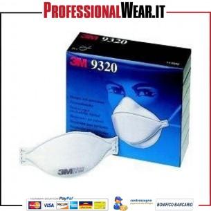 Mascherina 3M 9320 FFP2 senza valvola (confezione 20 pezzi)