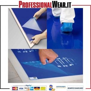 Tappeto decontaminante 115x45cm colore BLU (confezione 30 fogli)