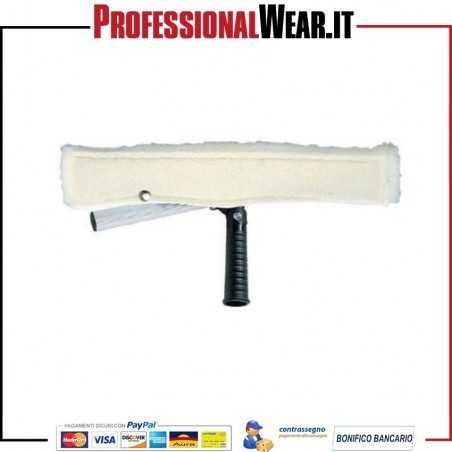 Vello bianco con fibra abrasiva e supporto, dim cm.25