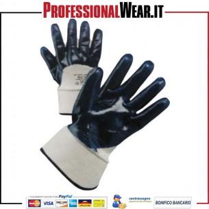 Guanto da lavoro NBR blu con dorso in cotone