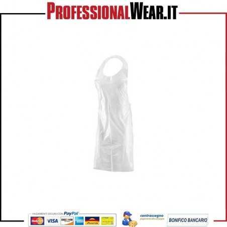 GREMBIULE Monouso POLITENE TRASPARENTE misura 70x120 (Confezione 100 pz)