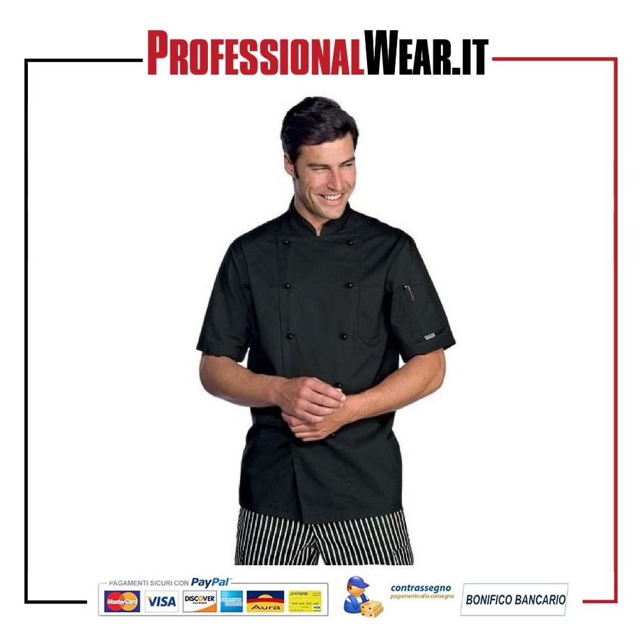 Giacca da Cuoco modello EXTRALIGHT mezza manica nera e433d1505681