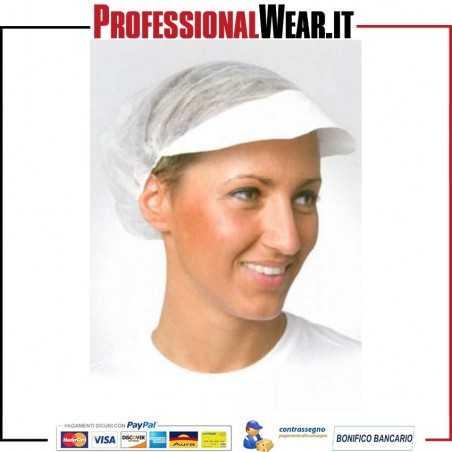 Cappello in PLP con retina e visiera (confezione 1000 pz)