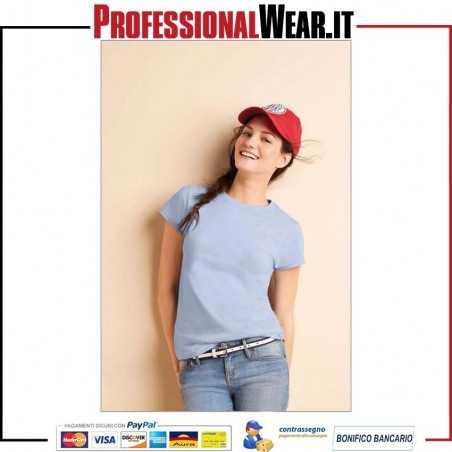 T-Shirt Donna girocollo manica corta Gildan GL64000L