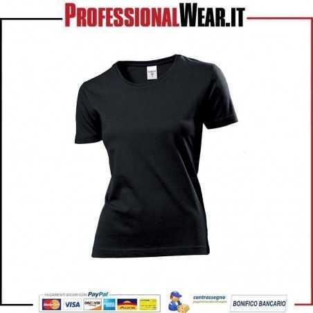 T-Shirt DONNA manica corta Stedman Classic