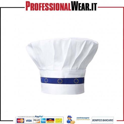 Cappello da Cuoco modello EUROPA colorazione bianca 1daef7fac4da