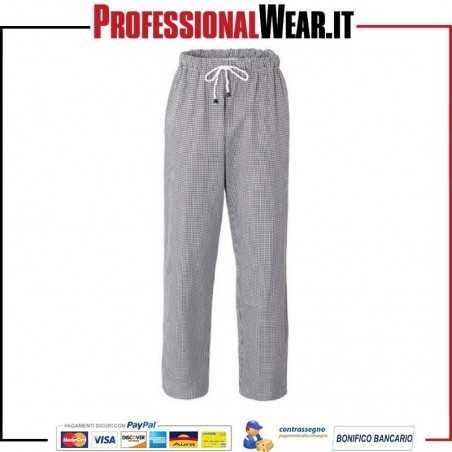 Pantalone da Cuoco modello PLUTONE trama sale e pepe