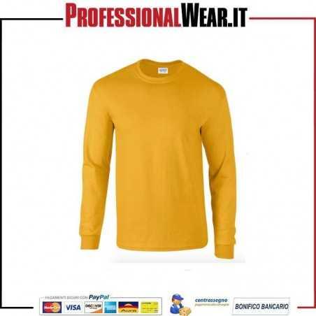 T-Shirt Uomo girocollo manica lunga Gildan