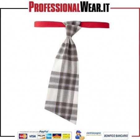Cravatta da Lavoro modello CARRY con trama a scacchi