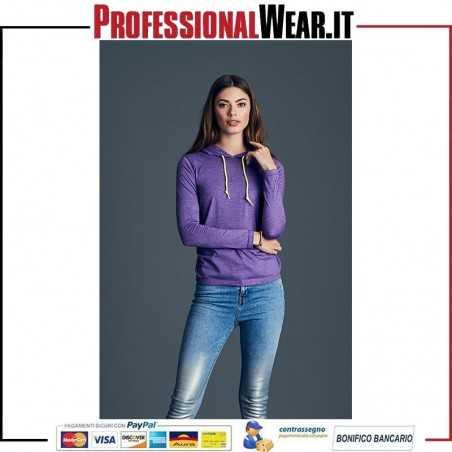 T-Shirt DONNA con Cappuccio Fashion Tear-Away