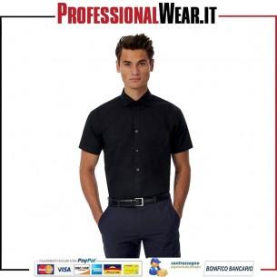 Black Tie Men Camicia M / C 97/3% Culla / Ela 135 gr / m2