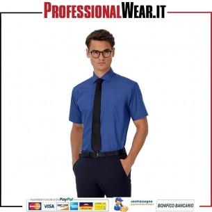 Patrimonio Uomini Camicia popeline M / C 100% Cot 125 gr