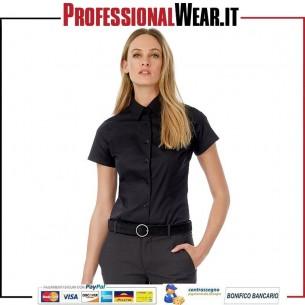 Black Tie Donne Camicia Stretch M / C 97/3% Culla / Ela