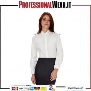 Patrimonio Donne Camicia Popeline M / L 100% Cot 125gr