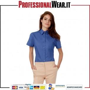 Patrimonio Donne Camicia Popeline M / C 100% 125gr Culla