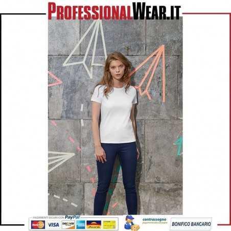 T-Shirt DONNA Girocollo Manica Corta E150 Nuova