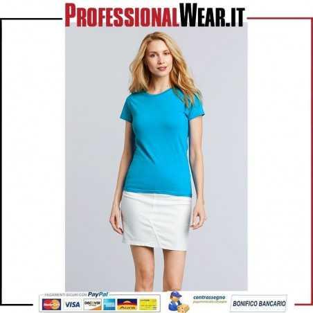 T-Shirt DONNA Girocollo Manica Corta Premium Cotton