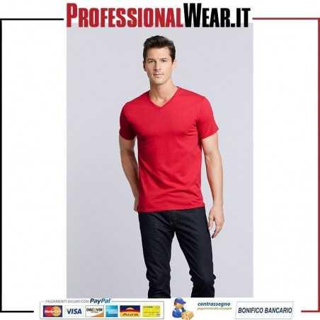 T-Shirt UOMO Collo V Manica Corta Premium Cotton