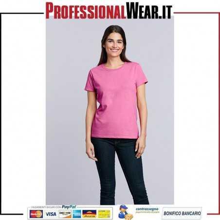 T-Shirt Girocollo DONNA Manica Corta Heavy Cotton