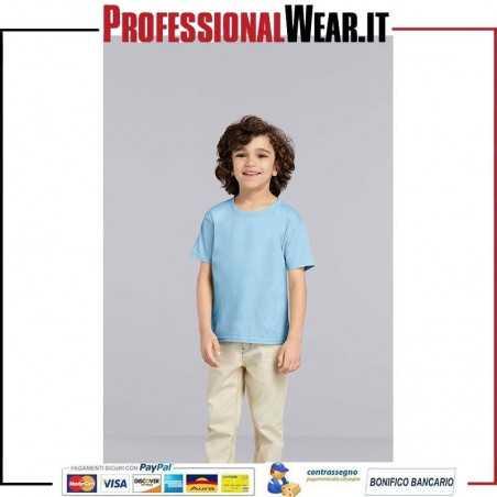 T-Shirt Bambino Girocollo Manica Corta Heavy Cotton Toddler