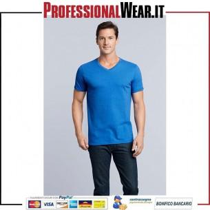 T-Shirt UOMO Collo V Manica Corta Soft Style
