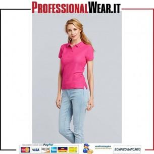 Premium Cotton Polo Donna M / C 100% Cot. 220 gr / m2