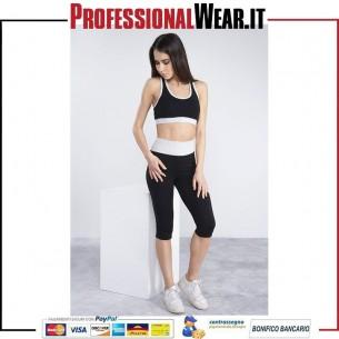 Panta Fit Donna 3/4 90/10% Culla / Ela 210 gr / m2