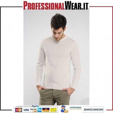 Pullover Girocollo 50/50% Cotone / Acrilico