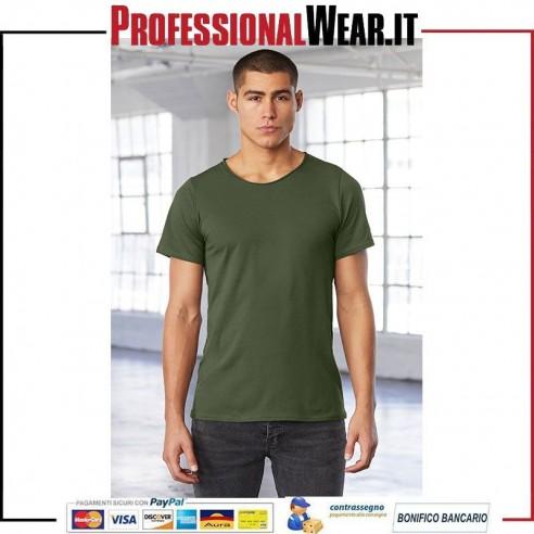 T-Shirt UOMO girocollo a Taglio Vivo Bella Canvas 1 €7.49812
