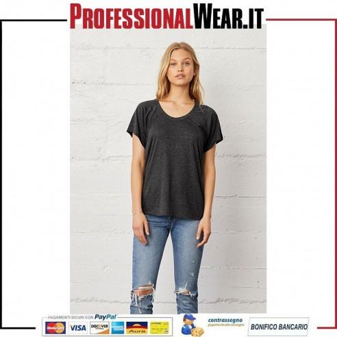 T-Shirt DONNA Scollo Tondo Manica Corta Flowy Bella Canvas 1|€10.06012