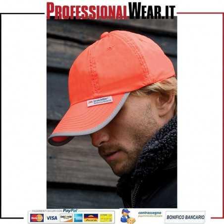 Cappello a 6 Pannelli Fluorescente in PVC Hig Viz