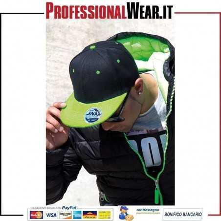 Cappello Bicolore 6 Pannelli Originale piatto Peak