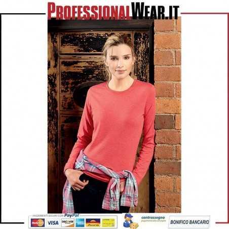 HD Donna Maglia G / CM / L 65/35% Pol / culla 160 gr / m2