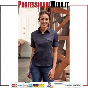 Camicia Donna Twill M 3/4 Risv. 100% Cotone 130 gr