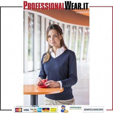 Ponticello pullover Donna C / V 50/50% Cot / Acr