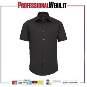 Camicia elasticizzata M / C 97/3% Cot / Ela 140 gr / m2